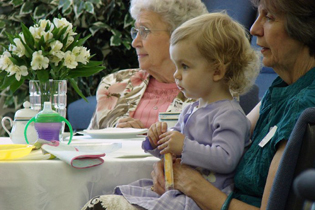 Women and girls of many ages enjoy a lovely tea party hosted by BRCC, held in honor of Mother's Day.