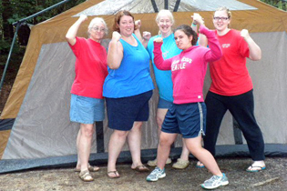 The Ladies' Camping Trip participants proved they could withstand the elements.